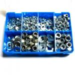 Assorted  zinc plated Nuts and washers